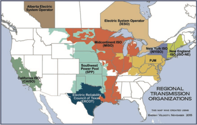 Regional Transmission Organizations Map
